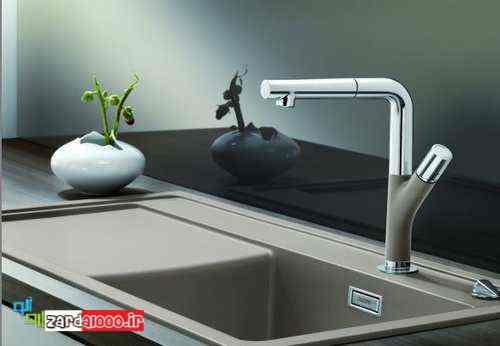 مدل دکوراسیون آشپزخانه - سینک خارجی ظرفشویی - کاسه ظرفشویی مدرن