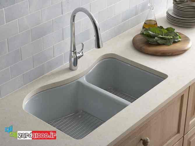 انواع مدل سینک ظرفشویی - مدل های سینک ظرفشویی - سینک ظرفشویی سنگ مصنوعی