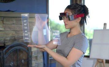 عینکهای واقعی برای لمس اشیای مجازی!
