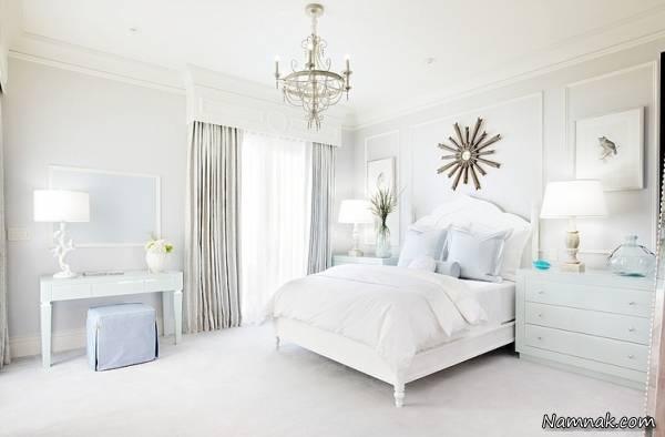 اتاق خواب سفید را از یکنواختی خارج کنید