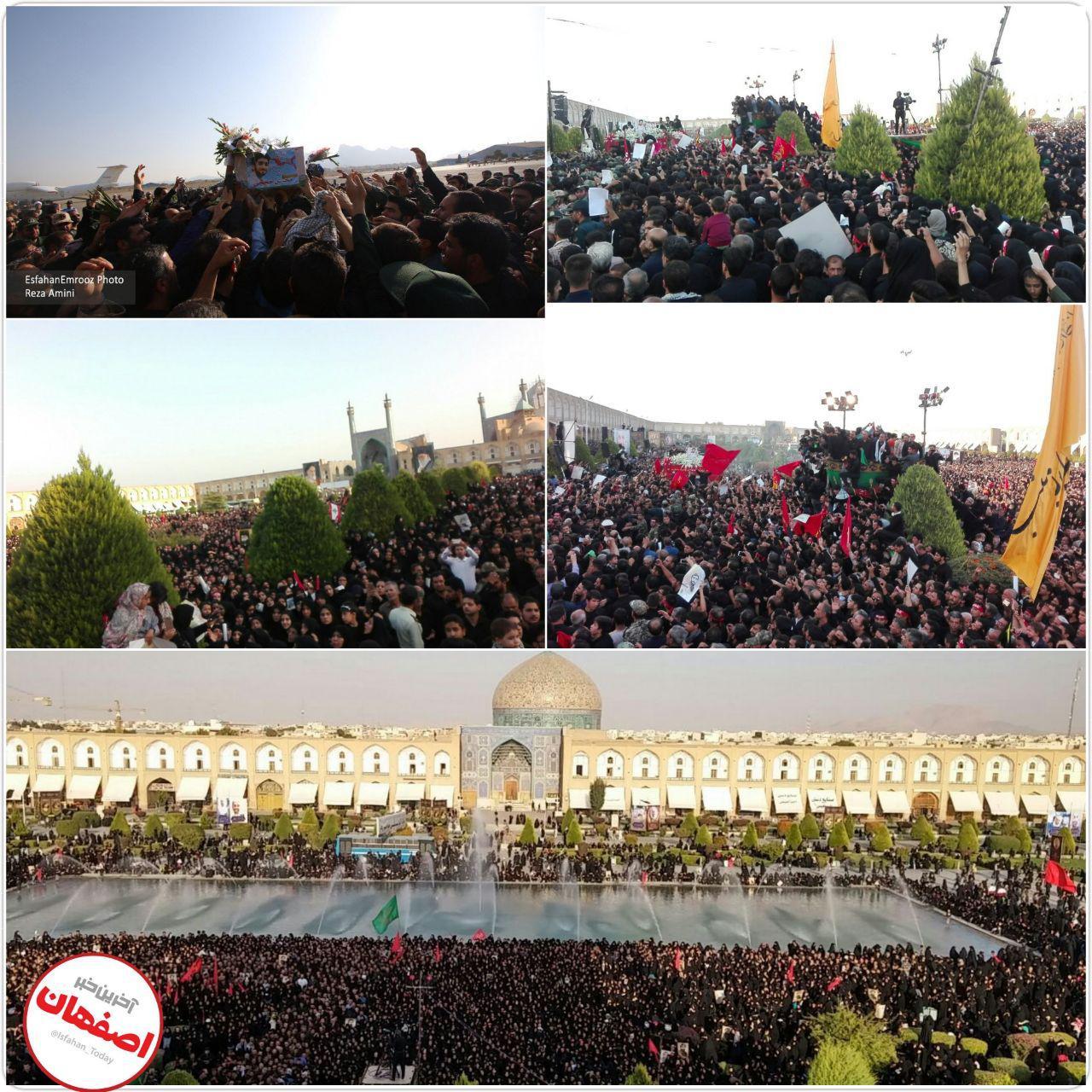اصفهان در استقبال از شهید بی سر محسن حججی