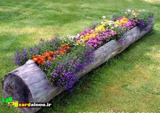 تصاویر تزیئنات گل و باغچه حیاط