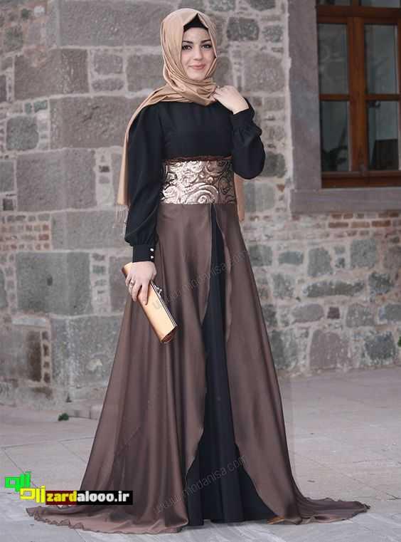 عکس لباس مجلسی شیک و با حجاب کامل