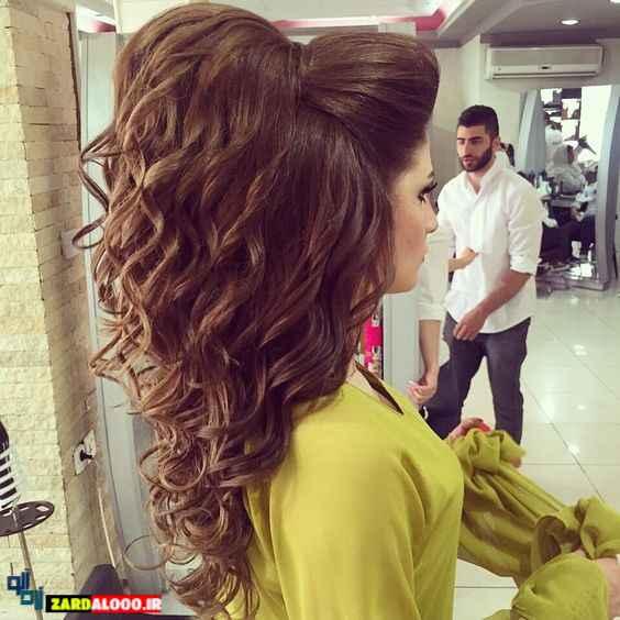 مدل موی دم اسبی مجلسی دخترانه