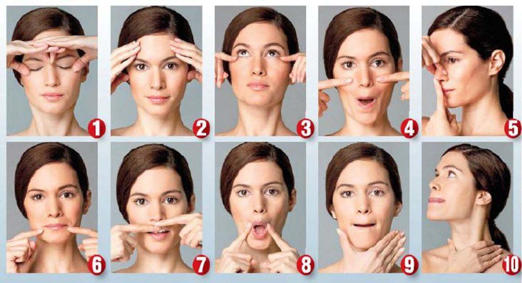 آموزش روش صحیح ماساژ دادن صورت