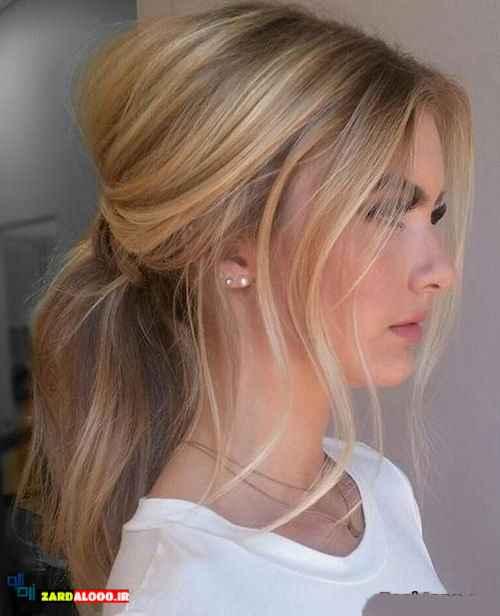 عکس مدل موی دم اسبی