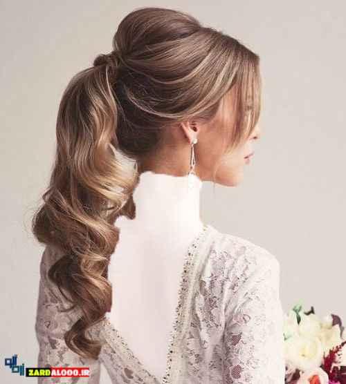 مدل موی دم اسبی برای عروس