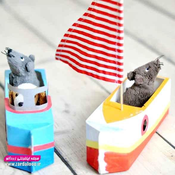 ساخت اسباب بازی برای کودک با پاکت شیر