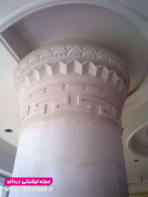 عکس جدید ستون و سر ستون گچکاری 1397
