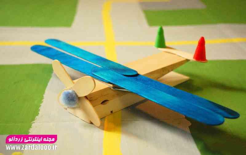 با وسایل ساده برای کودکان کاردستی هواپیما بسازید