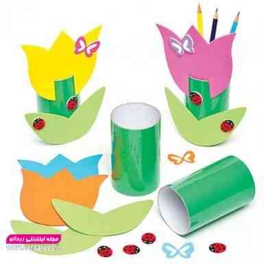 کاردستی جذاب و زیبا برای کودک ساخته شده از کاغذ و مقوا