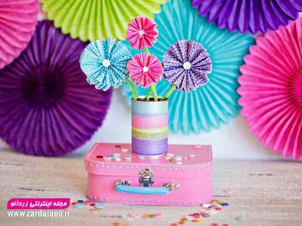 ایده ساخت کاردستی گل های زیبا