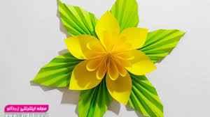 ساخت گل تزئینی با کاغذ