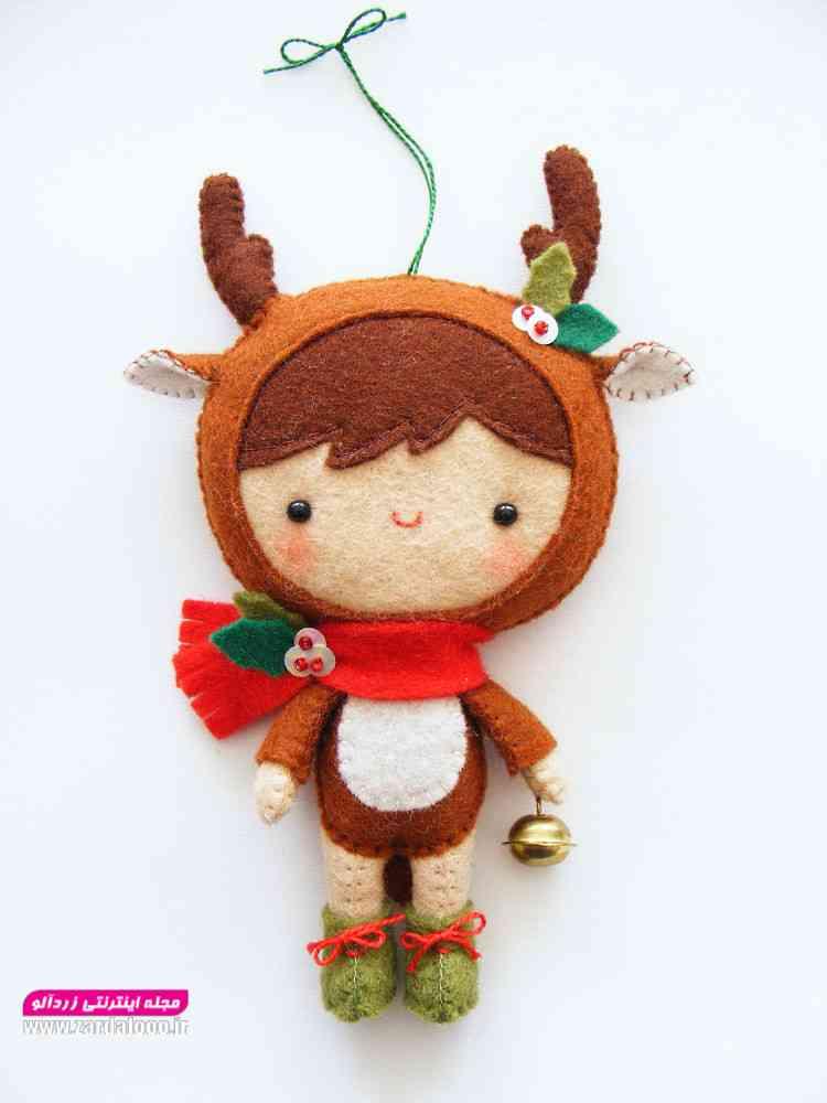ایده ساخت عروسک نمدی زیبا و دوست داشتنی