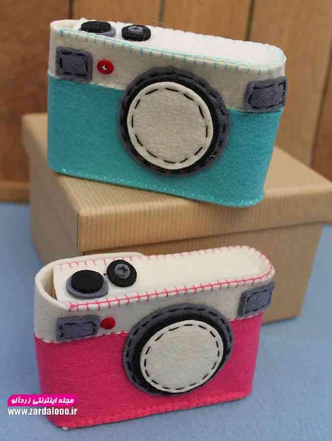 ایده ساخت کاردستی نمدی دوربین عکاسی
