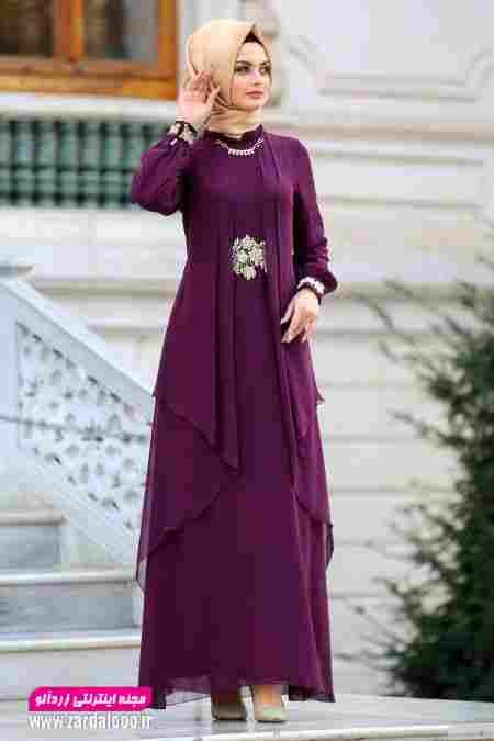 مدل لباس مجلسی بلند شیک و جدید دخترانه