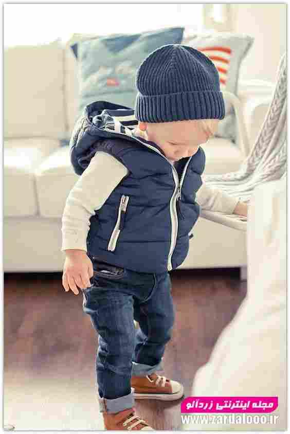 کودک پسر لباس زمستانه شیک و جدید