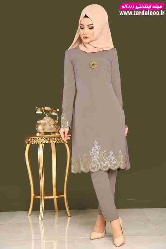 مدل مانتو مجلسی جدید 2019 شیک و با حجاب