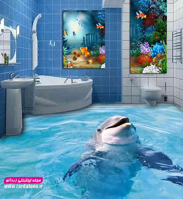 کاشی و سرامیک زیبا با طرح دلفین