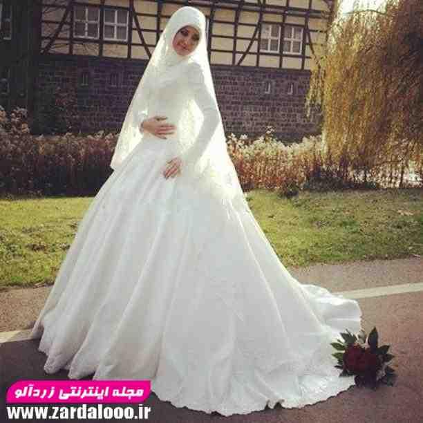 لباس عروس پوشیده 2018