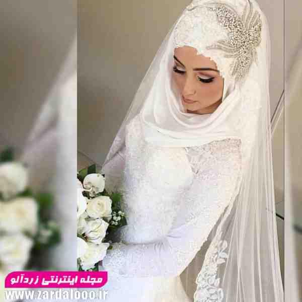 مدل لباس عروس با حجاب