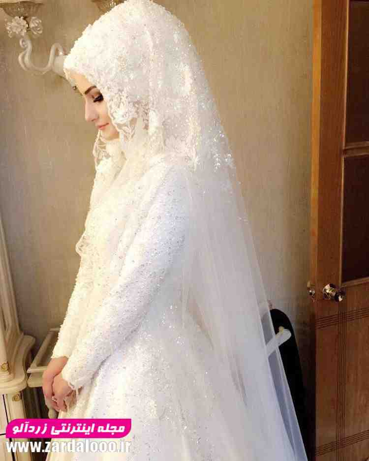 لباس عروس پوشید و با حجاب 2018