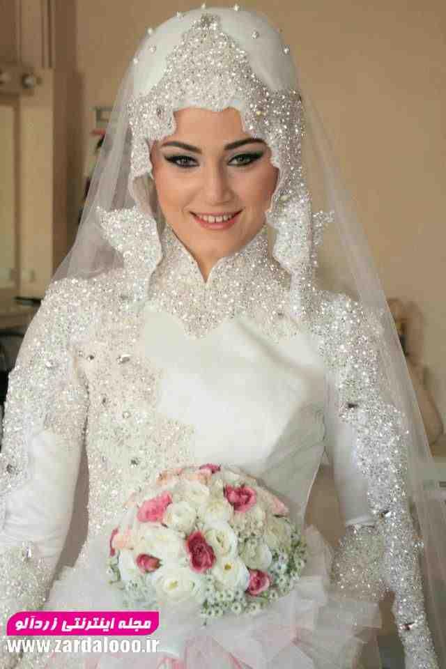 مدل لباس عروس شیک و جدید و با حجاب پوشیده
