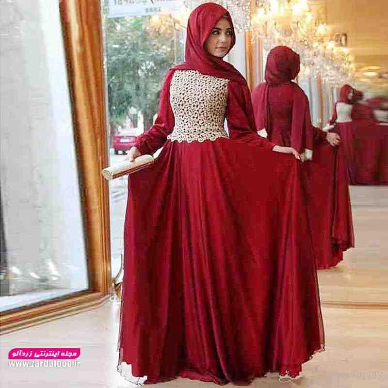 مدل لباس پوشیده مجلسی شیک و جدید