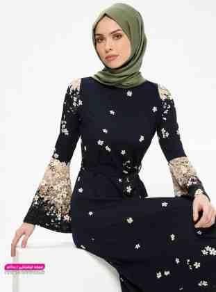 مدل لباس مجلسی زنانه پوشیده شیک