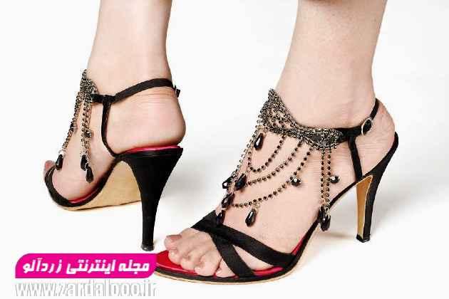 مدل کفش مجلسی پاشنه بلند - کفش پاشنه دار زنانه - عکس مدل کفش پاشنه بلند