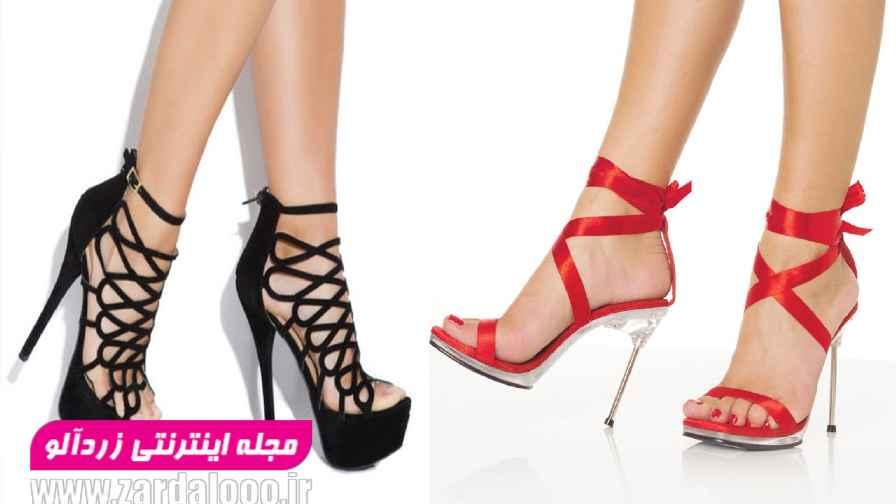 کفش دخترانه پاشنه بلند - عکس کفش پاشنه دار - کفش پاشنه دار مجلسی - کفش عروس پاشنه بلند