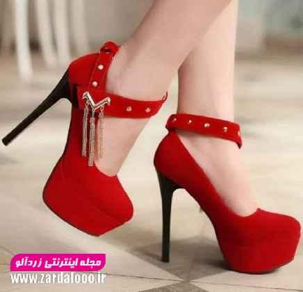 کفش های پاشنه بلند - مدل کفش پاشنه بلند قرمز - مدل کفش پاشنه دار زنانه