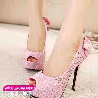 کفش پاشنه بلند مجلسی - کفش پاشنه بلند نوک باز شیک - عکس کفش مجلسی دخترانه