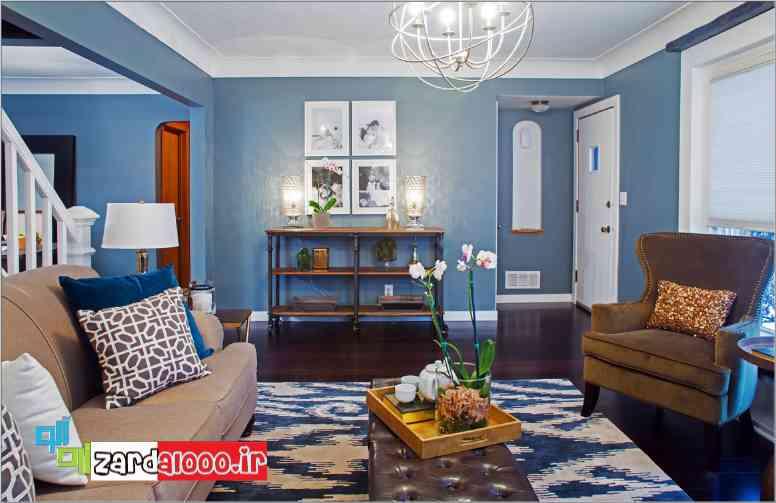 تاثیر رنگ آبی در زیبایی خانه سایت زردآلو