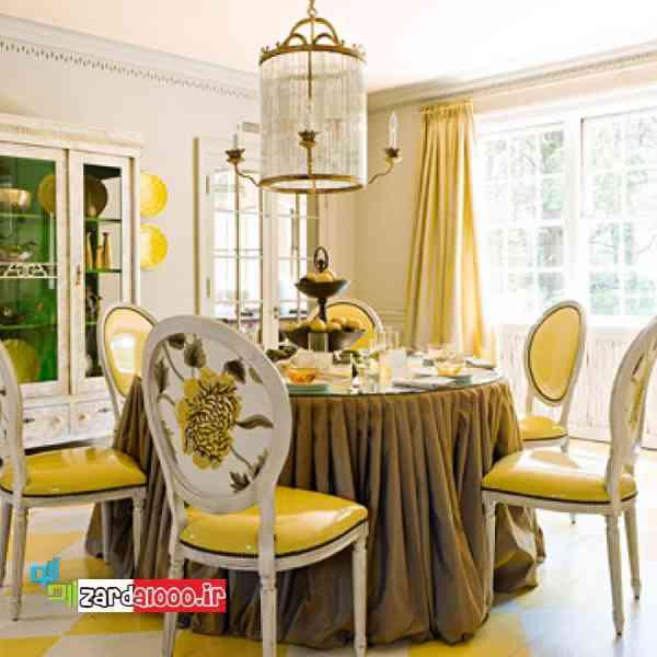 تاثیر رنگ زرد در زیبایی خانه سایت زردآلو