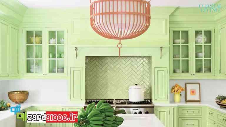 تاثیر رنگ سبز در زیبایی خانه سایت زردآلو