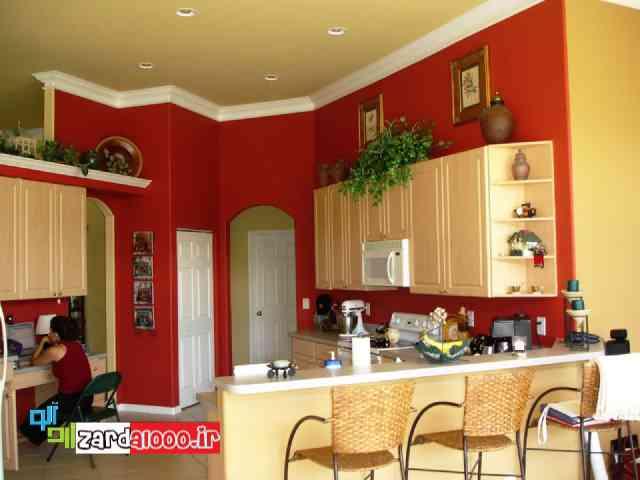 تاثیر رنگ قرمز در زیبایی خانه سایت زردآلو