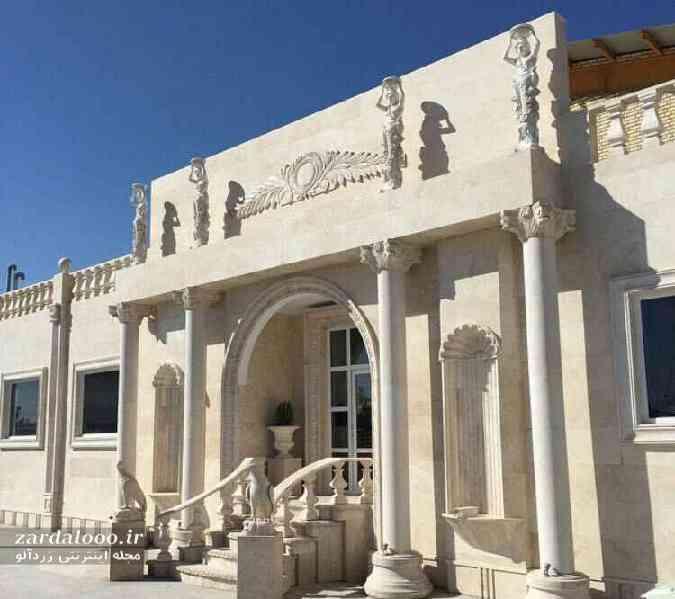 سنگ سفید نما - مدل سنگ کاری نمای ساختمان - عکس های نمای ساختمان