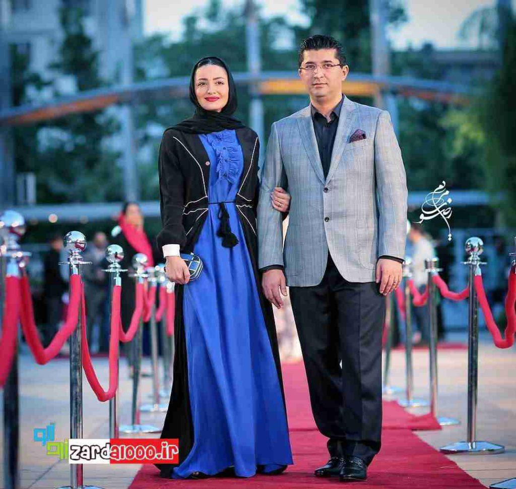 شیلا خدادادو همسرش درجشن حافظ