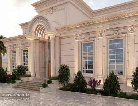 طراحی سنگ نما - نمای مدرن ساختمان - طراحی ساختمان ویلایی