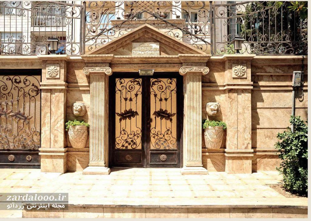 طراحی نمای بیرونی ساختمان با سنگ - عکسهای نمای ساختمان - عکس سنگ نمای ساختمان