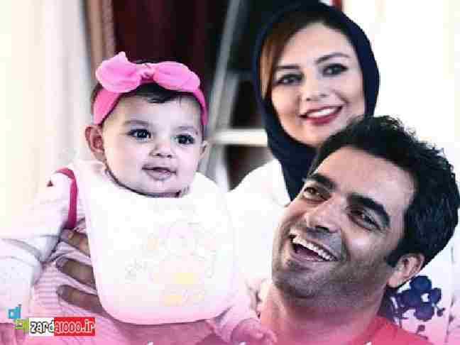 عکس خانوادگی یکتا ناصر به همراه همسرش و دخترش