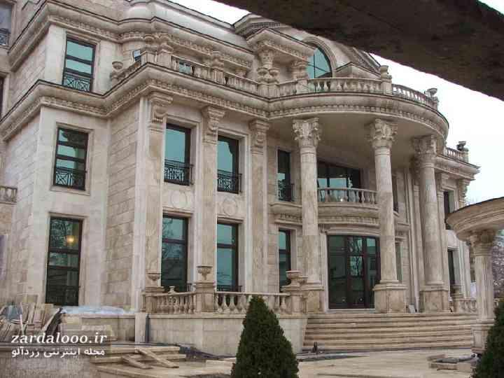 عکس نمای ساختمان ویلایی - نمای خارجی ویلا - طرح سنگ نمای ساختمان