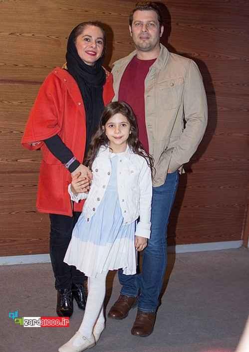 عکس پژمان بازغی با خانواده