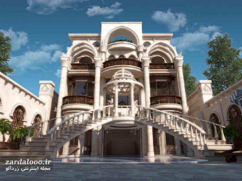 مدل سنگ نمای ساختمان - نمای بیرونی خانه - تصاویر نمای ساختمان