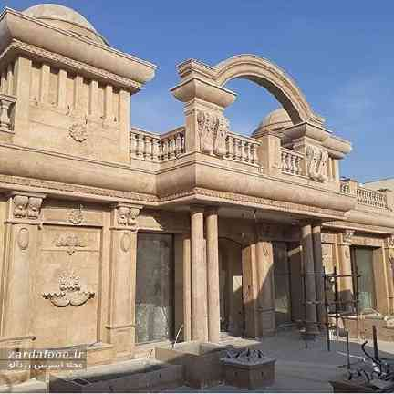 مدل نمای ساختمان جدید - نمای سنگ خانه - سنگ کاری نمای بیرونی ساختمان