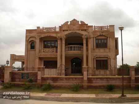 نمای خارجی ساختمان مسکونی - عکس سنگ نما - طراحی سنگ نمای ساختمان