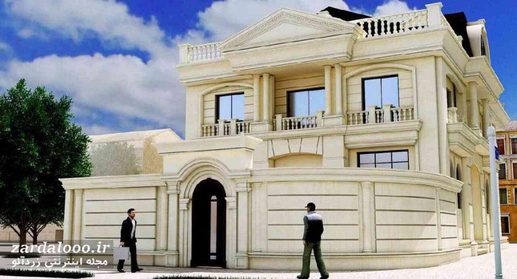 نمای سنگ تراورتن سفید - بهترین سنگ برای نمای ساختمان - سنگ برای نمای ساختمان