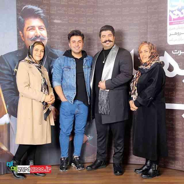 عکس بهنام بانی با علیرضا طلیسچی و مادرهایشان