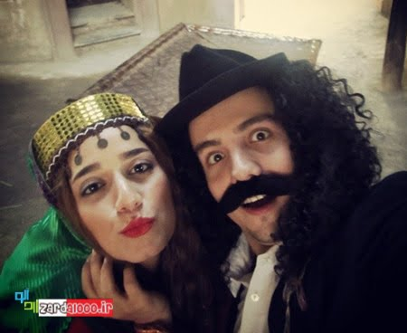 عکس با مزه از امیر کاظمی و همسرش
